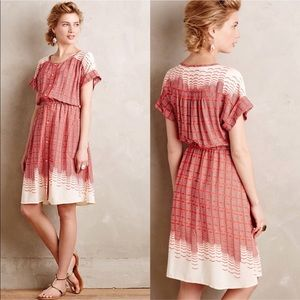 Anthropologie Maeve Veronia Pattern Shirt Dress S